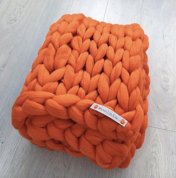 Merino Vlněná Deka Orange 100x150cm