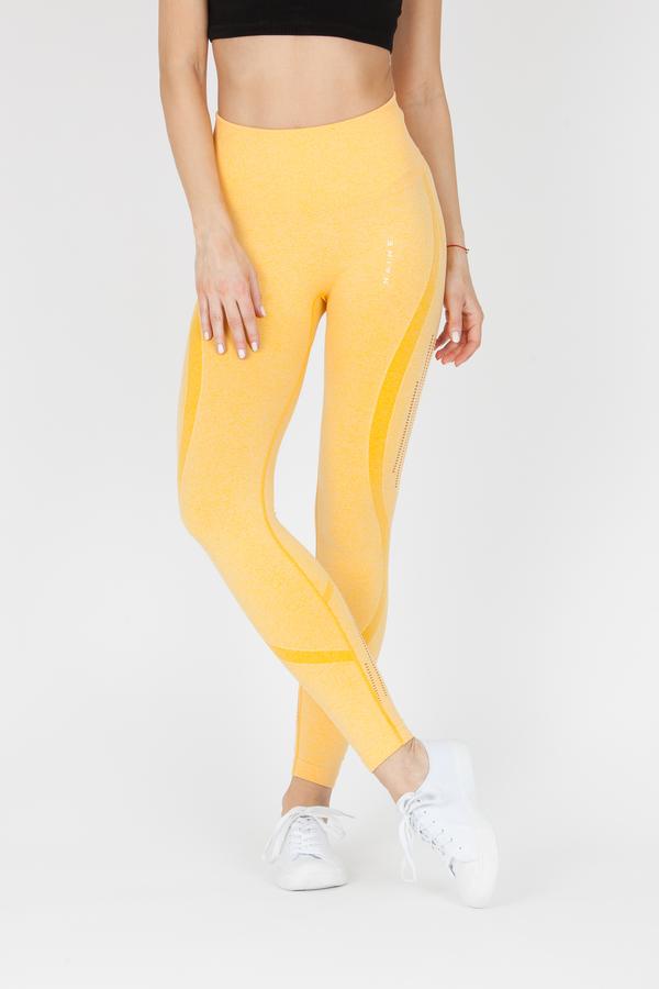 Naine 4.0. Bezešvé Legíny Stripes - Yellow, M - 1