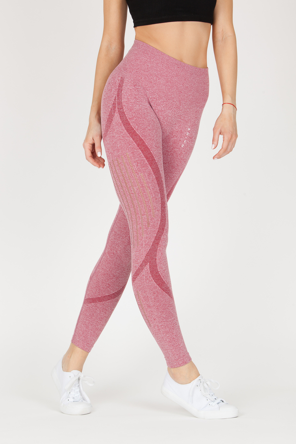 Naine 4.0. Bezešvé Legíny Stripes - Pink, M - 1