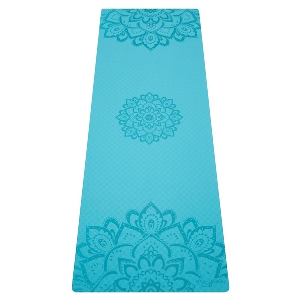 Yoga Design Lab 6.0mm Flow Mat - Pure Mandala Aqua - 1