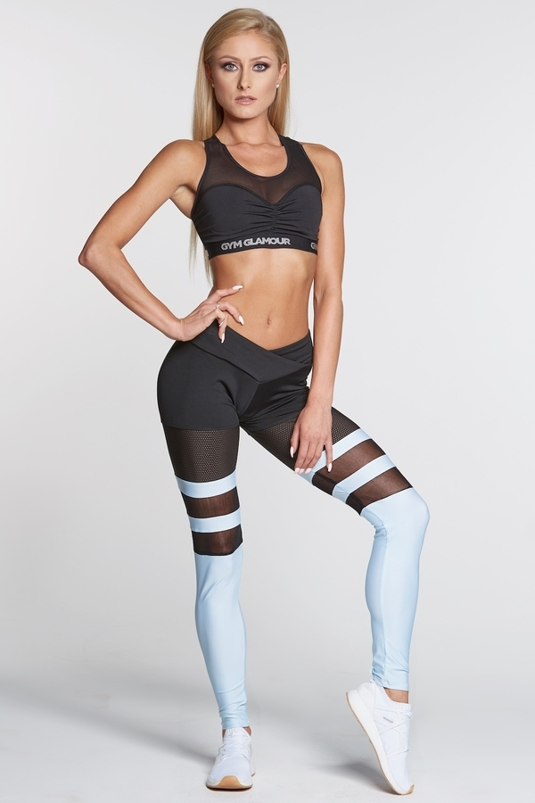Gym Glamour Legíny Mesh And Blue Socks, S - 1
