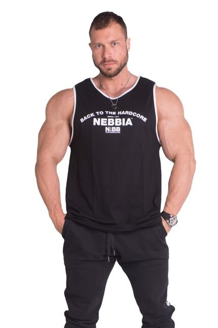 Nebbia Tílko Hardcore S Lemováním 395 Černé, M - 1