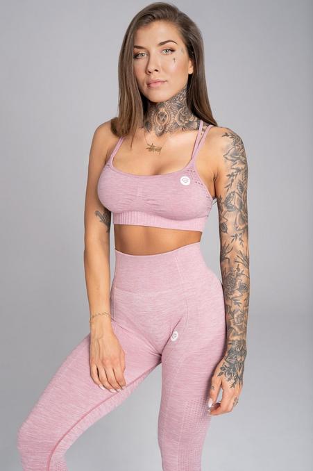 Gym Glamour Podprsenka Seamless Pink Melange, M - 1