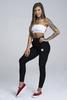 Gym Glamour Tepláky Boyfriend Black, XS - 1/3