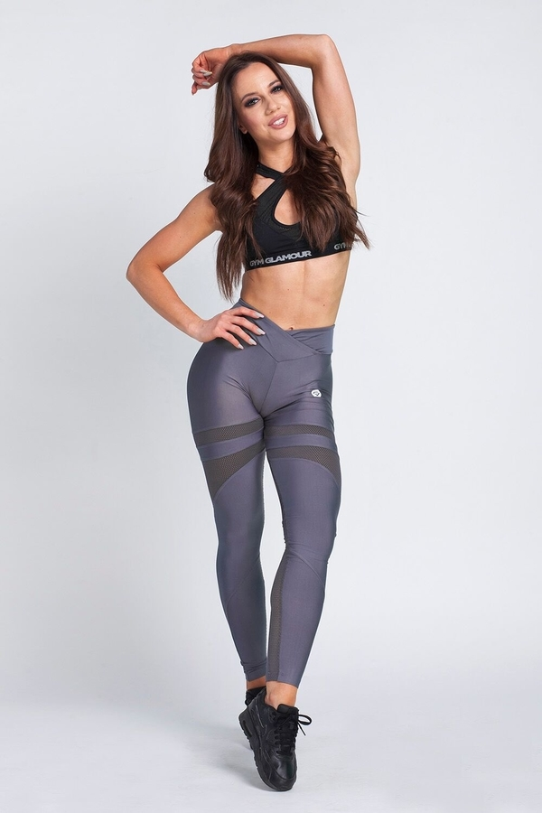 Gym Glamour Legíny Granite Grey Mesh, XS - 1