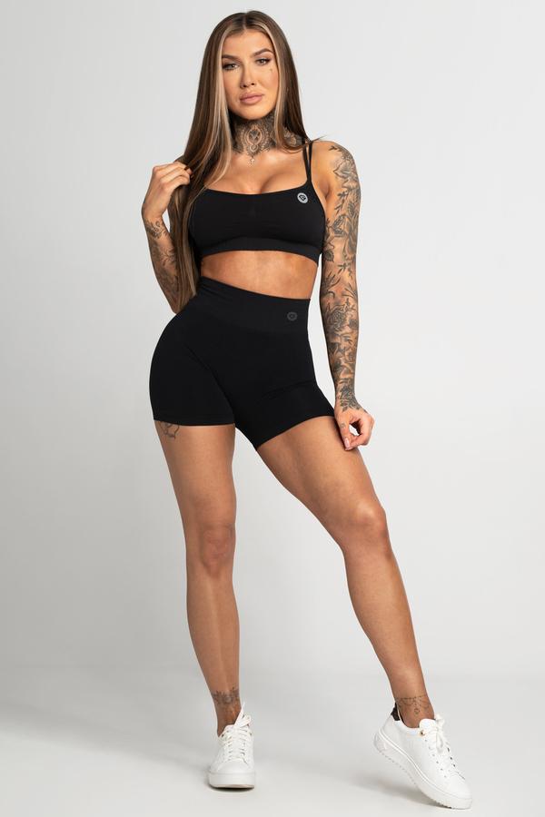 Gym Glamour Kraťásky Bezešvé Black, S - 1