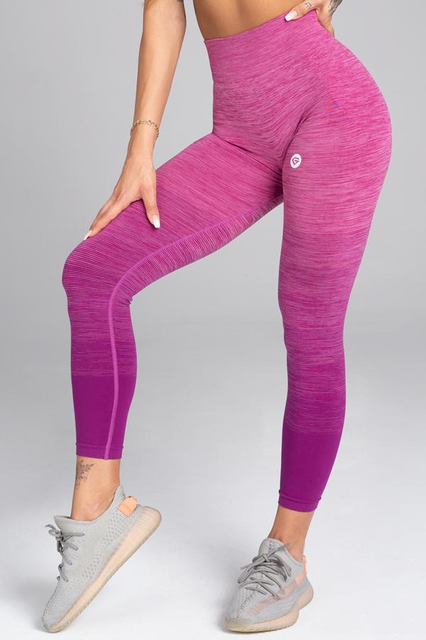 Gym Glamour Legíny Bezešvé Pink Ombré - 1