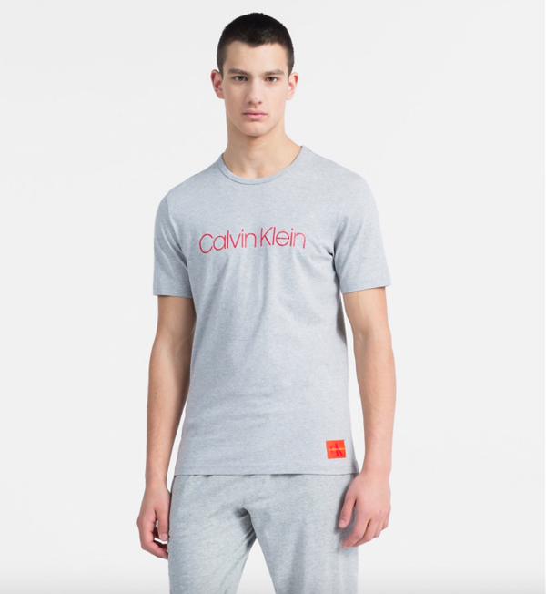 Calvin Klein Tričko Monogram Pánské Šedé - 1