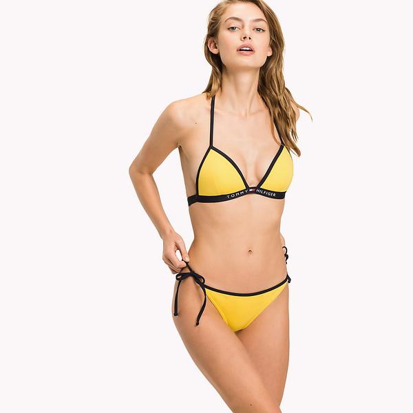 Tommy Hilfiger Cheeky String Side Plavky Yellow Spodní Díl, M - 1