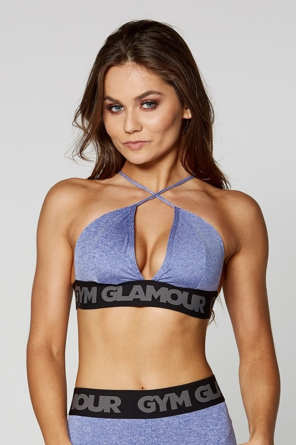 Gym Glamour Podprsenka Purple Sexy String, S