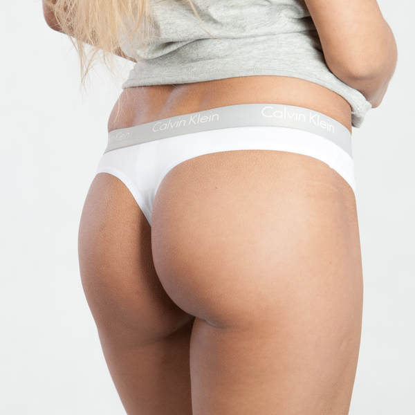 Calvin Klein Tanga Radiant Bílá, L - 1
