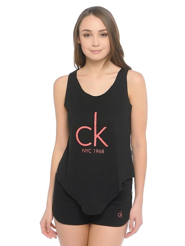 Calvin Klein Tílko Knotted Černé, M - 1