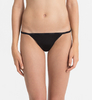 Calvin Klein Tanga Sheer Marquisette Black, S - 1/3