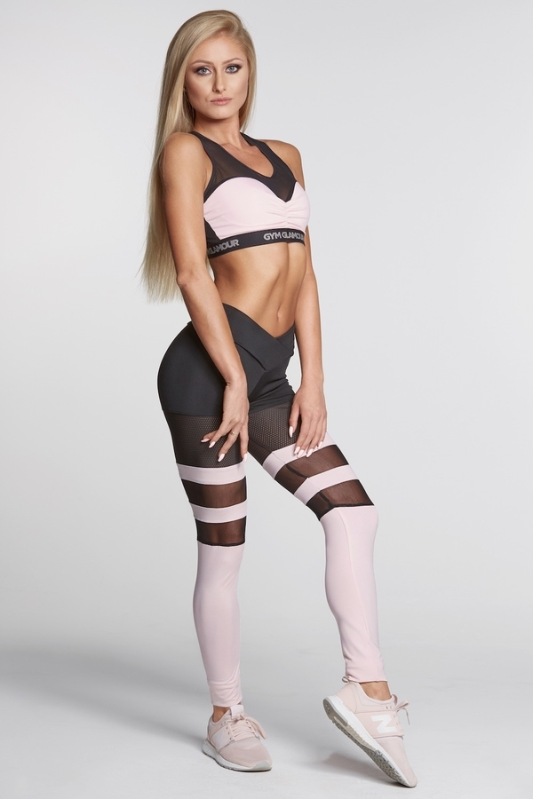Gym Glamour Legíny Mesh And Pink Socks, XS - 1