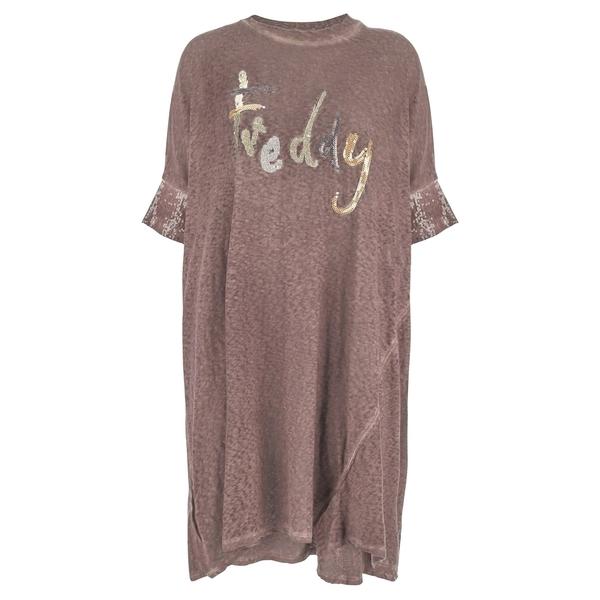 Freddy Oversize Šaty Růžové, S - 1