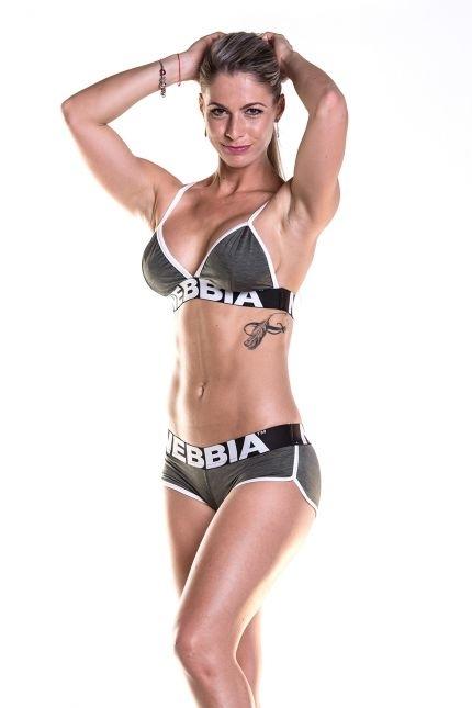 Nebbia Fitness Podprsenka 267 Khaki, S - 1