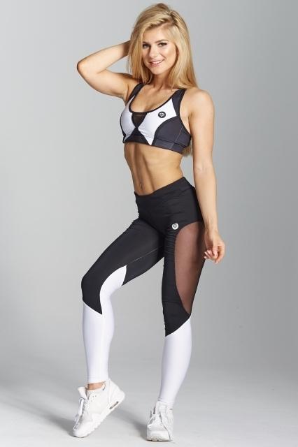 Gym Glamour Legíny Black&White, XS - 1