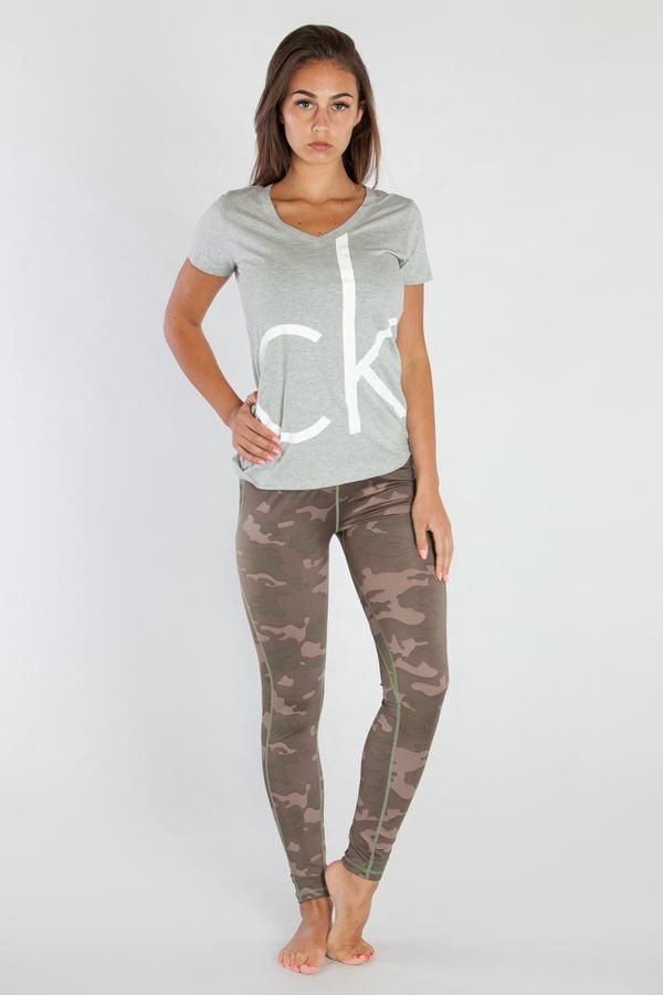 Calvin Klein Dámské Tričko Šedé CK, L - 1