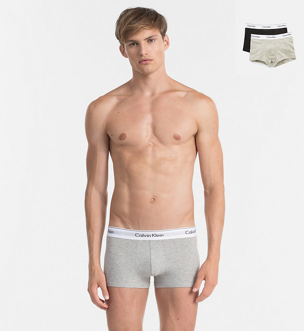 Calvin Klein 2Pack Boxerky Black And Grey, S - 1