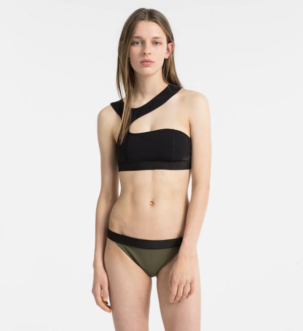 Calvin Klein Plavky Open Cut Black Vrchní Díl, S - 1