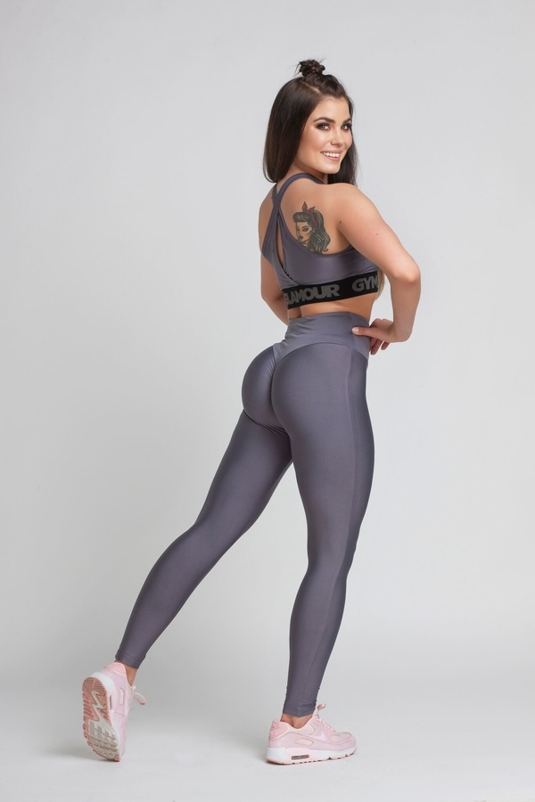 Gym Glamour Legíny High Waist Granite, M - 1