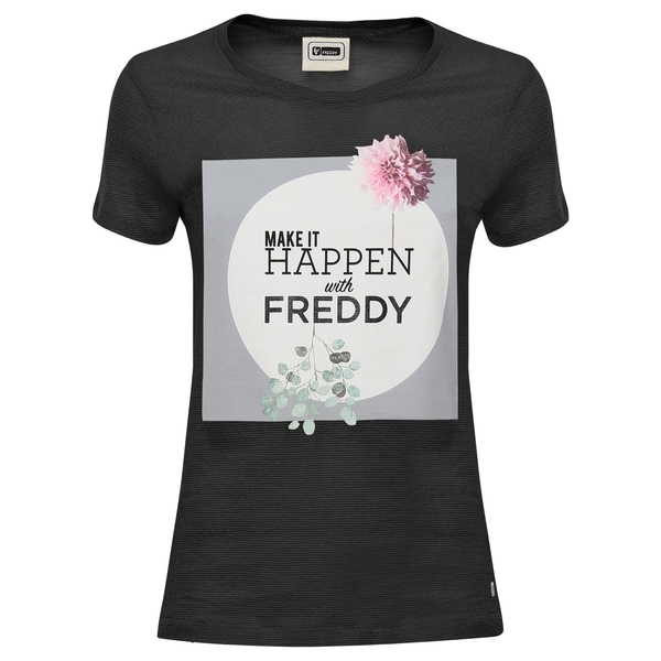 Freddy Tričko Černé Make It Happen, XS - 1