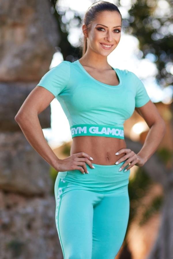 Gym Glamour Crop-Top Pistachio, XS