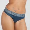Calvin Klein Tanga Customized Stretch Blue, XS - 1/2