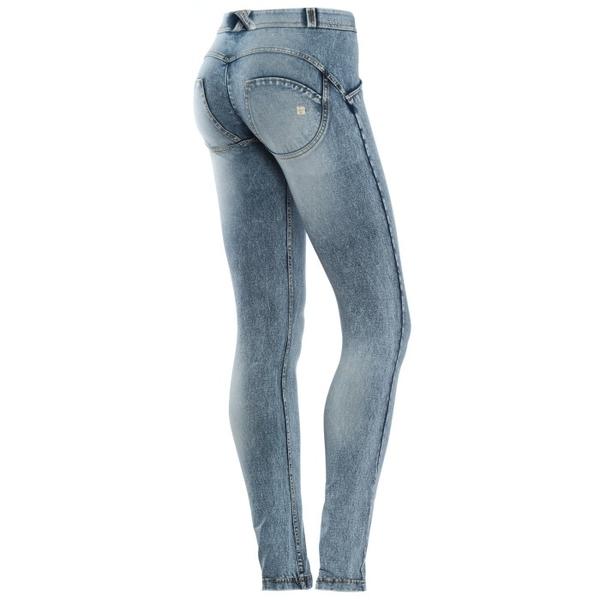 Freddy Jeans Světle Modré - Opraný Efekt, M