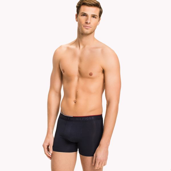 Tommy Hilfiger Cotton Stretch Boxerky Navy, S - 1