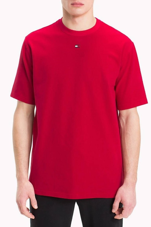 Tommy Hilfiger Tričko Flag Červené Pánské, M - 1