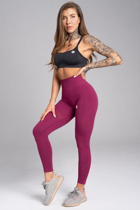 Gym Glamour Legíny Bezešvé Jelly Berry, S - 1