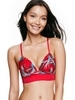 Victoria´s Secret Podprsenka Red Tropical Print - 1/3