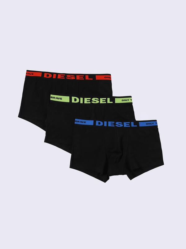 Diesel 3Pack Boxerky Černé S Červeným, Zeleným A Modrým Nápisem, XL - 1