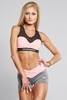 Gym Glamour Kraťásky Grey & Pink - 1/5