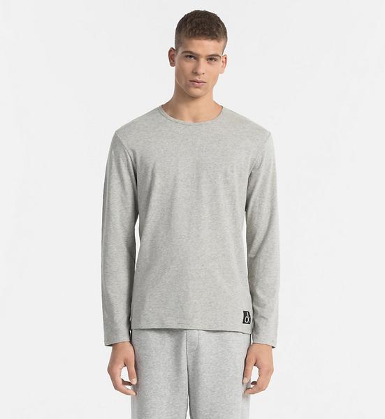 Calvin Klein Tričko S Dlouhým Rukávem Šedé - 1