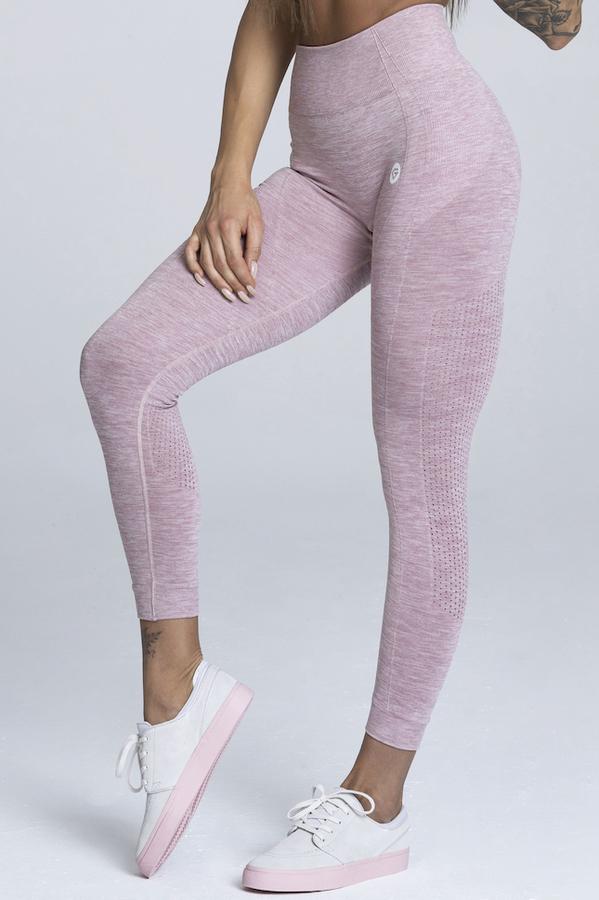 Gym Glamour Legíny Bezešvé Pink Melange - 1