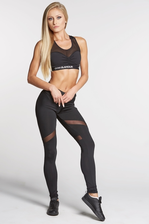 Gym Glamour Legíny Full Black Heart, L - 1