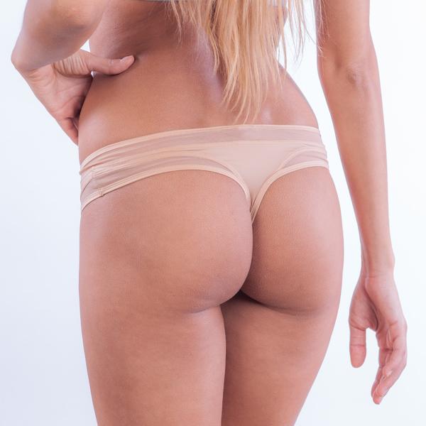 Calvin Klein Tanga Naked Touch Tělové, M - 1