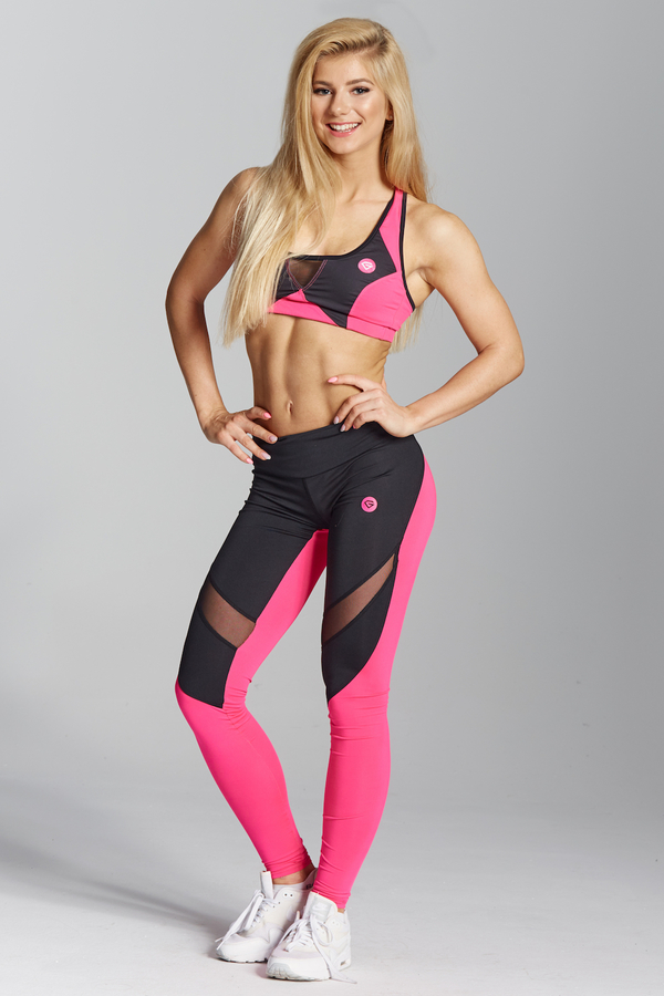 Gym Glamour Legíny Pink Fluo, XS - 1