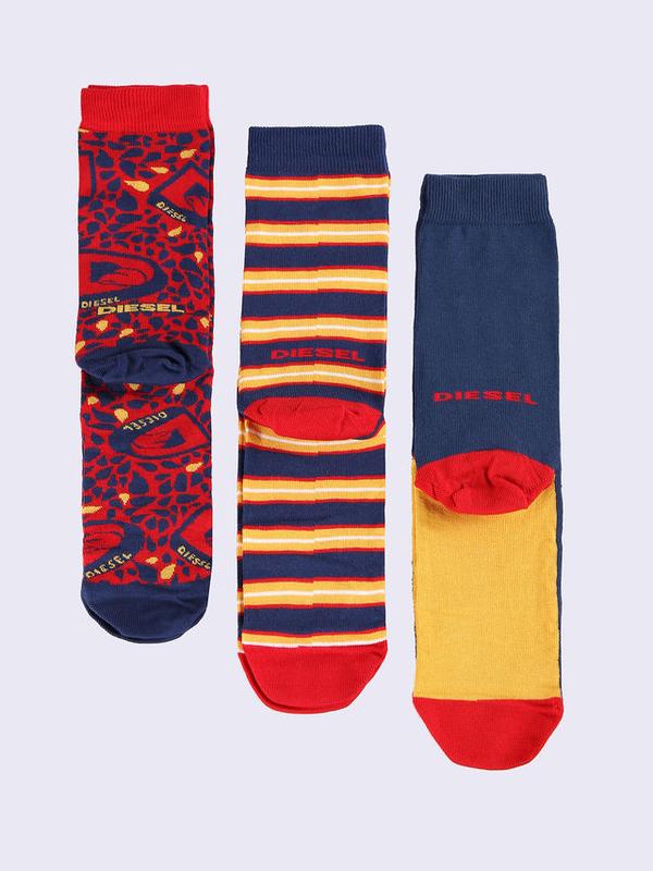 Diesel 3Pack Ponožky Červené Se Vzory, L - 1