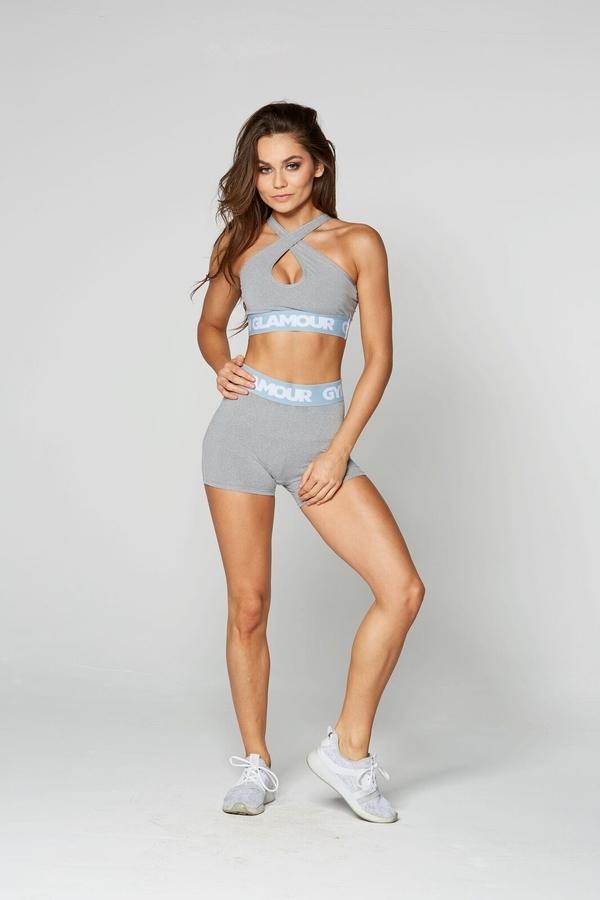 Gym Glamour Kraťásky Grey, XS - 1