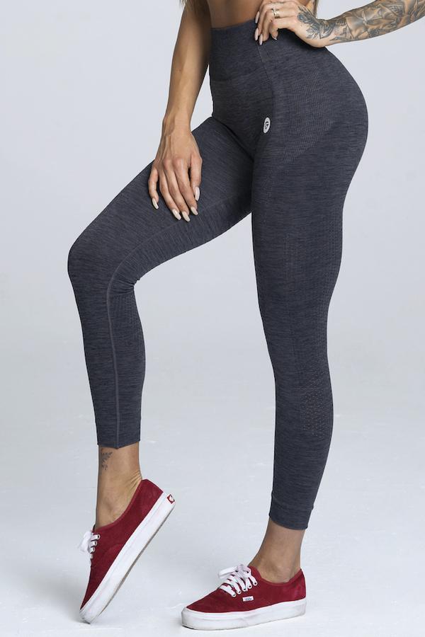 Gym Glamour Legíny Bezešvé Grey Melange, M - 1