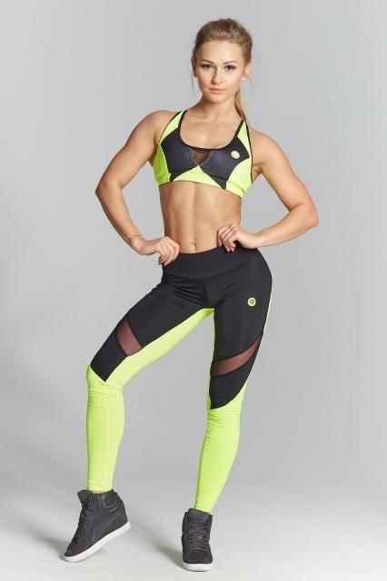 Gym Glamour Legíny Green Fluo, L - 1