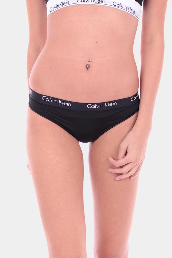 Calvin Klein Thong All Black, M - 1
