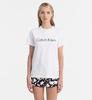 Calvin Klein Logo Dámské Tričko Bílé, S - 1/4