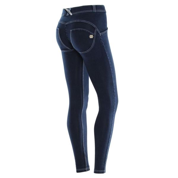 Freddy Jeans Modré S Bílými Švy Normální Pas FW19, XL - 1