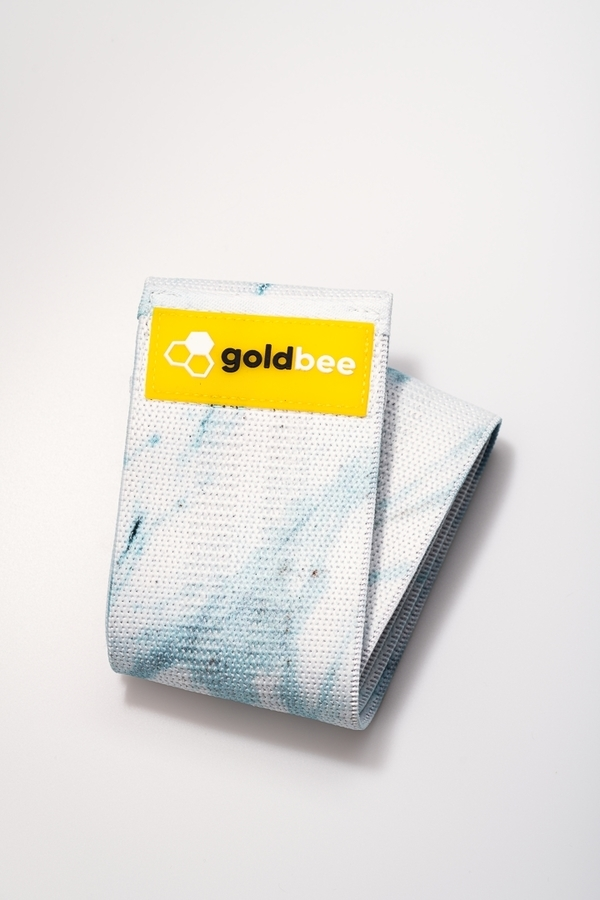 GoldBee Textilní Odporová Guma - Světle Modrá Mramorová, M - 1