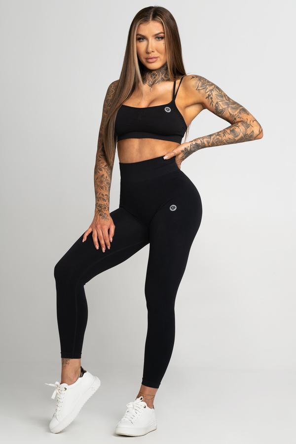 Gym Glamour Legíny Bezešvé Second Skin Black, S - 1