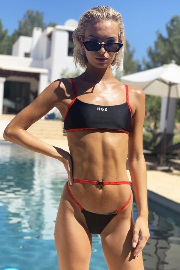 Hugz Plavky Ibiza Sport Bikini Černé, S - 1